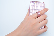 落下防止リング付きiPhone用ケース